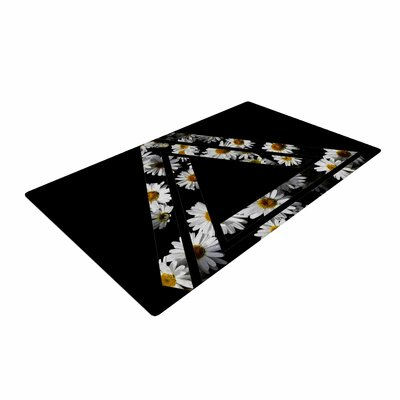 Alias Impossible Daisy Chain Black/Yellow Area Rug Rug Size: 2 x 3