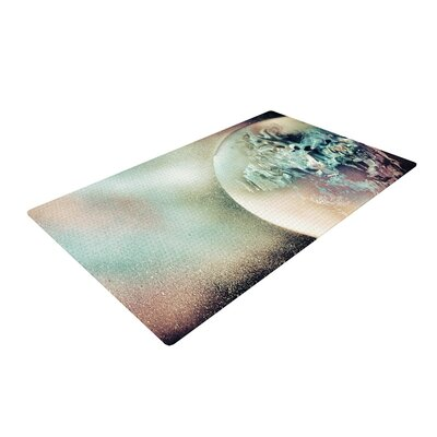 Infinite Spray Art Space Dust Space Planet White Area Rug Rug Size: 4 x 6