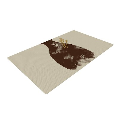 Tobe Fonseca in Love Bear Brown Area Rug Rug Size: 2 x 3