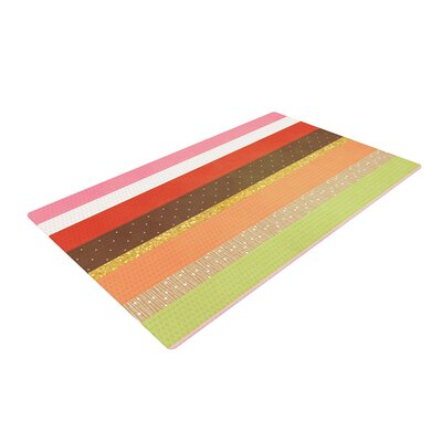 Strawberringo Mix Hodge Podge Green/Red Area Rug Rug Size: 2 x 3