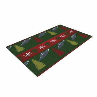 Alias Xmas Files Green/Red Area Rug