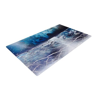 Infinite Spray Art Surreal Falls Blue Area Rug Rug Size: 2 x 3