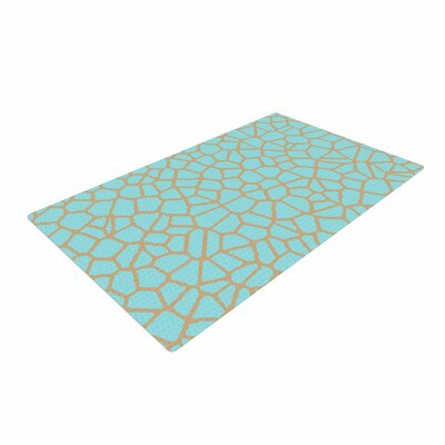 Trebam Staklo III Digital Blue/Brown Area Rug Rug Size: 4 x 6