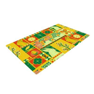 Tobe Fonseca Spring Seasonal Yellow Area Rug Rug Size: 4 x 6