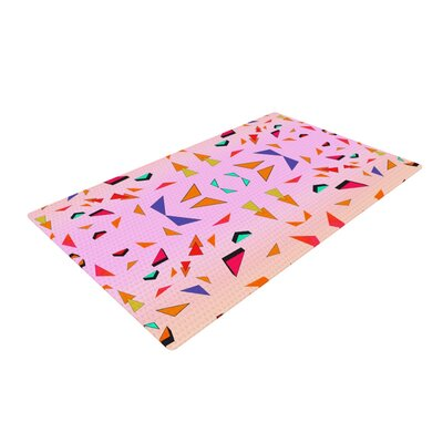 Vasare Nar Candy Land Tropical Geometric Pink Area Rug