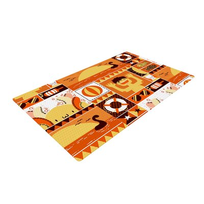 Tobe Fonseca Summer Seasonal Orange Area Rug Rug Size: 2 x 3
