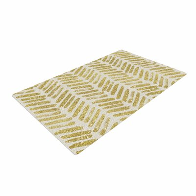 888 Design Vision Yellow/White Area Rug Rug Size: 2 x 3