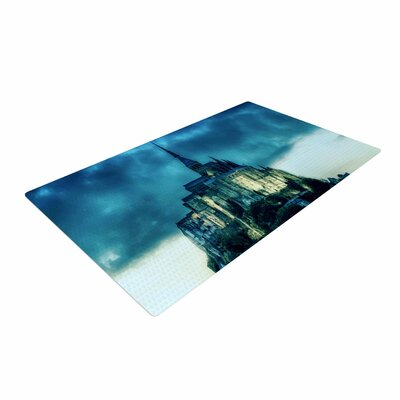 888 Design Haunted Castle Fantasy Blue Area Rug Rug Size: 2 x 3