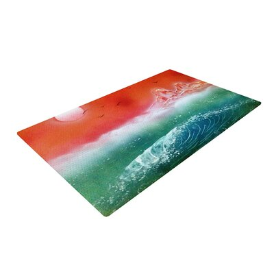 Infinite Spray Art Dream Seascape Teal/Red Area Rug Rug Size: 4 x 6