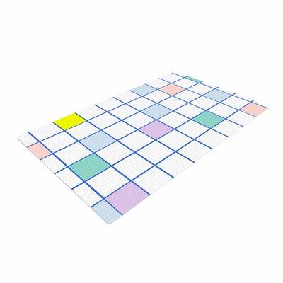 Vasare Nar Windowpane Grid Multicolor/White Area Rug