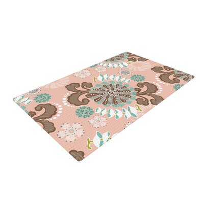 Very Sarie Sea Carnival Pink/Teal Area Rug Rug Size: 4 x 6