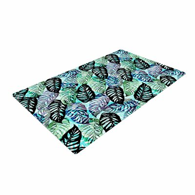Victoria Krupp Tropical Leaves Nature Green Area Rug