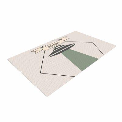 Alias Believe Geometric Beige Area Rug Rug Size: 4 x 6