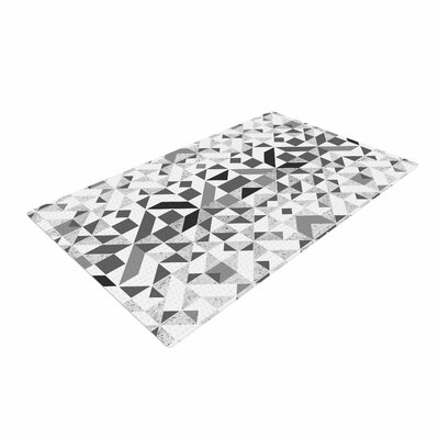 Vasare Nar Monochrome Geometric Gray Area Rug