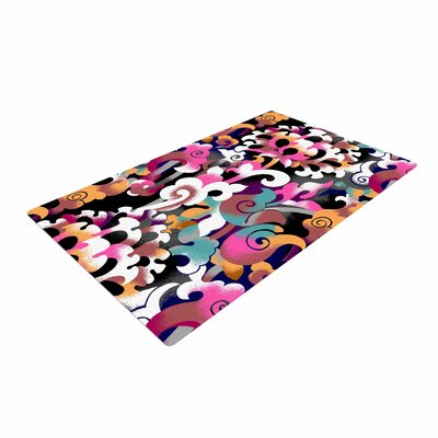 Victoria Krupp Fantasy Flowers Abstract Pink Area Rug