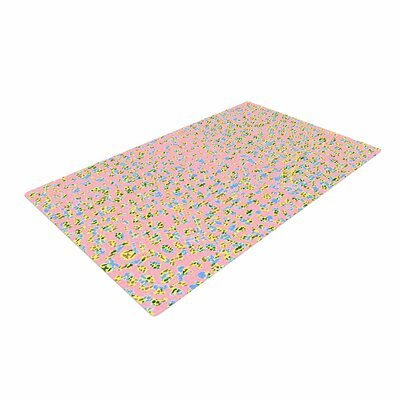 Vasare Nar Peach Lepoard Pattern Pastel Area Rug