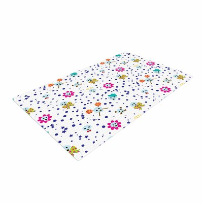Yenty Jap Happy Skull Pink/Yellow Area Rug