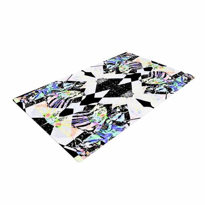 Vasare Nar Abstract Zebra Black/Lavender Area Rug Rug Size: 2 x 3