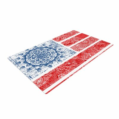 Victoria Krupp Americana Mandala Flag Holiday Red Area Rug