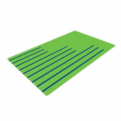 Trebam Stepenice V.3 Pattern Green Area Rug