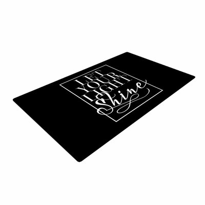Noonday Design Let Your Light Shine Black/White Area Rug