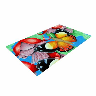 Vinny Thompson Yellow Admiral Tropical Multicolor Area Rug
