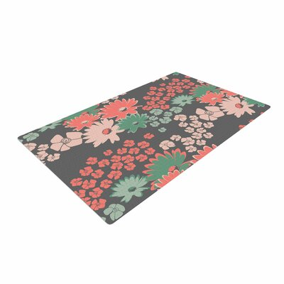Zara Martina Mansen Natures Bouquet Coral/Green Area Rug