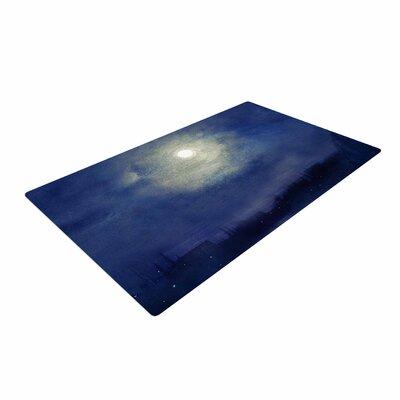 Viviana Gonzalez Magnolia Moonlight Blue Area Rug Rug Size: 4 x 6