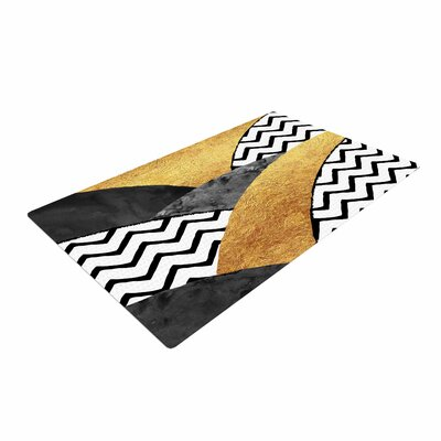 Zara Martina Mansen Chevron Hills Gold/Black/White Area Rug