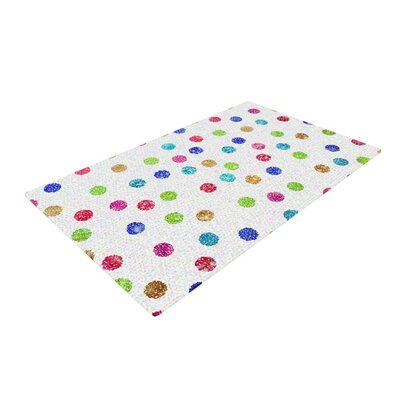 Beth Engel Seeing Dots Rainbow White Area Rug Rug Size: 4 x 6