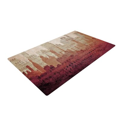 Alison Coxon City Warm Tan Area Rug Rug Size: 4 x 6