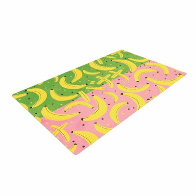Strawberringo Banana II Green/Pink Area Rug Rug Size: 4 x 6