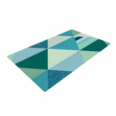 Noonday Design The Triangle Blues Geometric Blue Area Rug