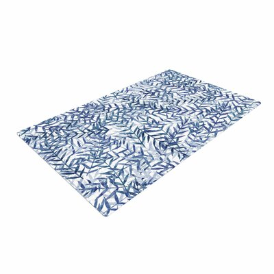Strawberringo Dark Blue/White Area Rug Rug Size: 2' x 3'