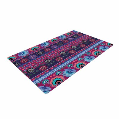 Victoria Krupp Folkloric Border Abstract Blue Area Rug