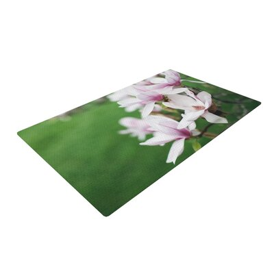 Angie Turner Magnolias Pink/Green Area Rug Rug Size: 4 x 6