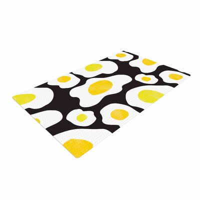 Vasare Nar Fried Eggs Pattern Pop Art Yellow Area Rug