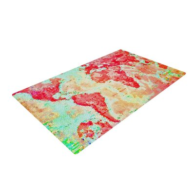 Alison Coxon Oh the Places Well Go World Map Area Rug
