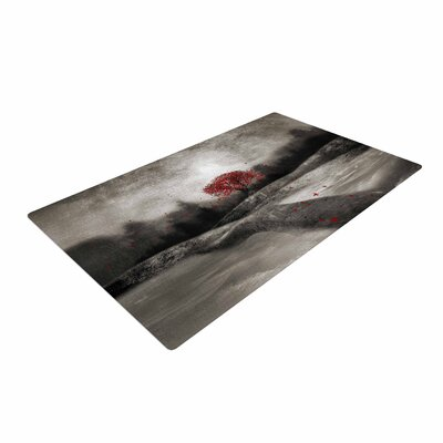 Viviana Gonzalez The Sounds and Poems 1 Tree Red/Black Area Rug