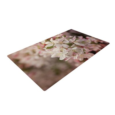 Angie Turner Apple Blossoms Flower Pink Area Rug Rug Size: 4 x 6