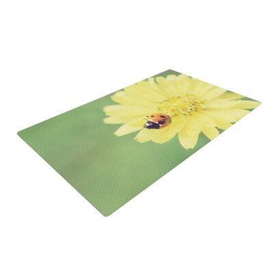 Beth Engel Little Lady Ladybug Green/Yellow Area Rug Rug Size: 2 x 3