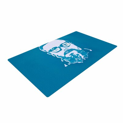 Theresa Giolzetti Hello World Dennis Ritchie Blue/White Area Rug Rug Size: 4 x 6
