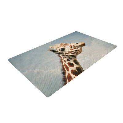 Angie Turner Giraffe Animal Brown/White Area Rug Rug Size: 4 x 6