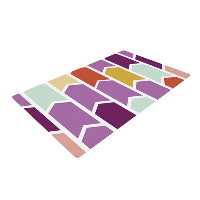 Pellerina Design Orchid Geometric Chevron Arrows Purple Area Rug