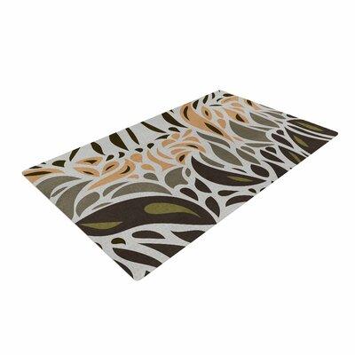 Viviana Gonzalez Africa - Abstract Pattern II Gray/Green Area Rug