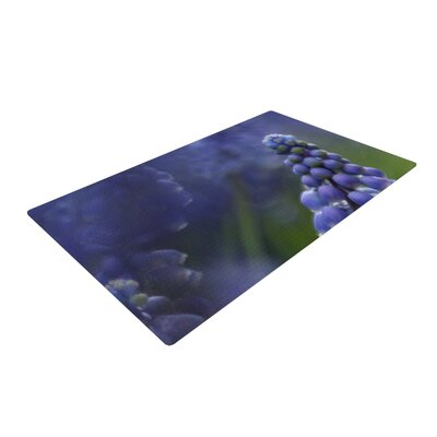 Angie Turner Grape Hyacinth Green/Purple Area Rug Rug Size: 2 x 3