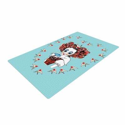 Zara Martina Off with Her Head Red/Teal Area Rug