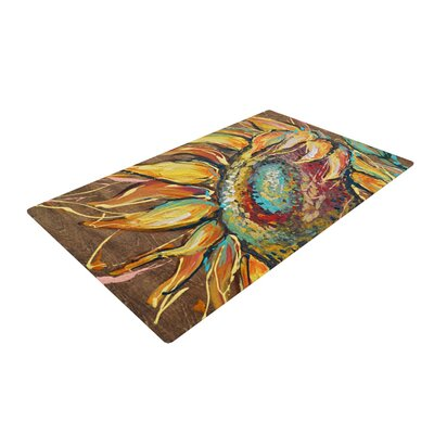 Brienne Jepkema Sunflower Flower Brown/Yellow Area Rug Rug Size: 2 x 3