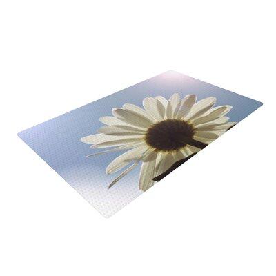 Angie Turner Daisy Bottom Flower Blue/White Area Rug Rug Size: 2 x 3