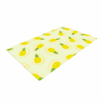 Strawberringo Pineapple Pattern Fruit Yellow Area Rug Rug Size: 4 x 6